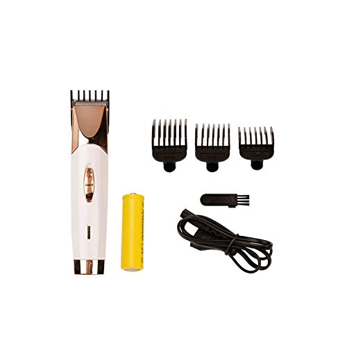 Rechargeable Stainless Steel Blade Cordless Shaver Razor Beard Body Hair Clipper Cutting Trimmer Haircut Machine With 3 Combs,Golden