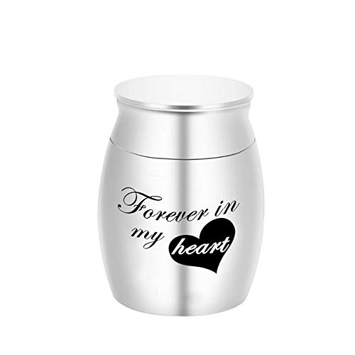 Minyose Forever In My Heart My Angel Caja De Cenizas De Recuerdo para Mascotas Cremación De Cenizas Recuerdo Mini Urnas Ash Funeral Memorial Colgante Regalo