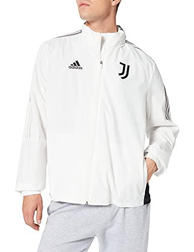 adidas JUVE AW JKT Jacket, Core White, L Mens