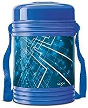 Milton Vector Deluxe 4 Plastic Leak Lock Tiffin Box Set, 5-Pieces, Blue