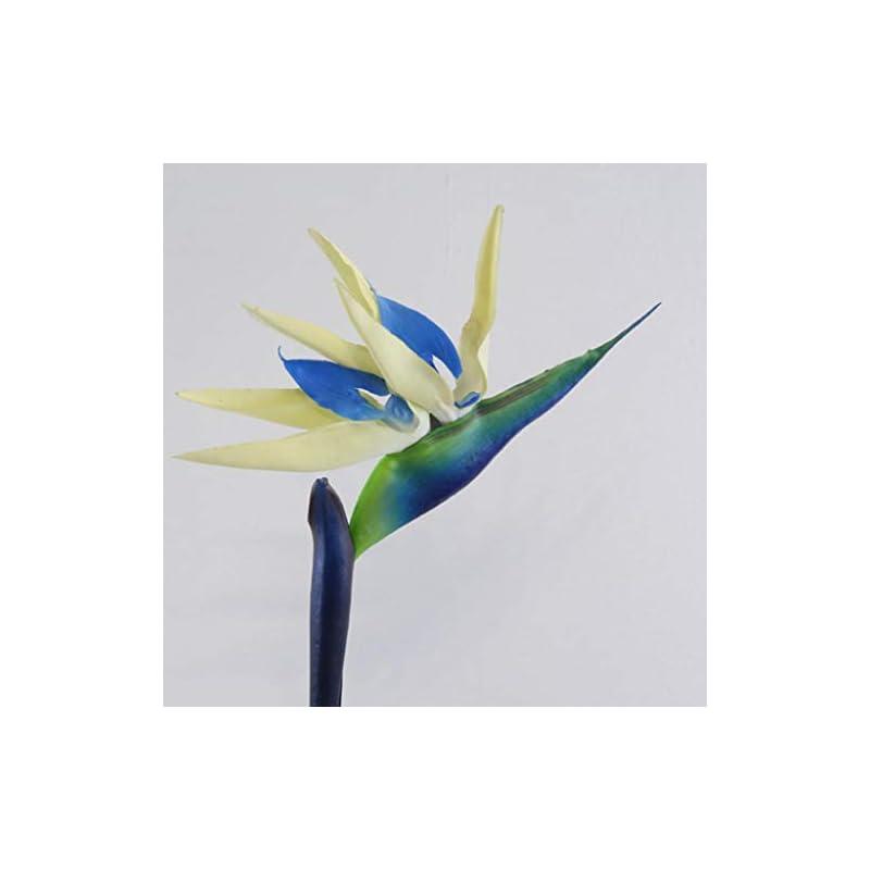 silk flower arrangements dserw artificial flower bird of paradise,artificial flower bird of paradise fake plant silk strelitzia reginae home decor - white