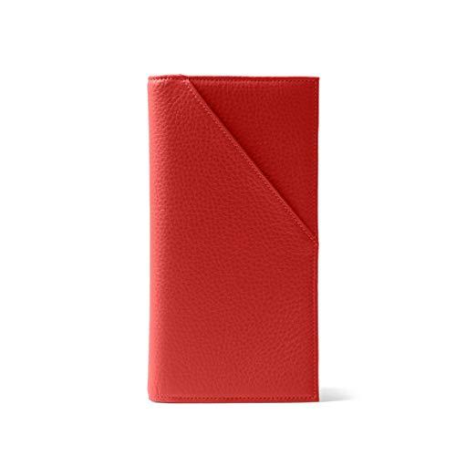 Leatherology RFID Scarlet Travel Passport Wallet, Document Holder Organizer, RFID Available, Full Grain Leather