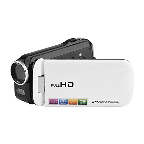 Andoer 1080P Full HD Mini Câmera de Vídeo Digital DV Camcorder 24MP 3 Polegadas Tela Táctil LCD Rotativa 18X Zoom LED Fill-in Light com Bateria de Lítio Recarregável Controle Remoto para Crianças