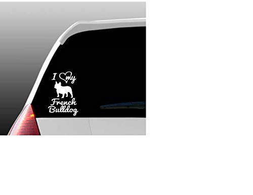 DKISEE I Love My French Bulldog/French Bulldogs Car Window Decalfor car Laptop Bumper 6 Inch