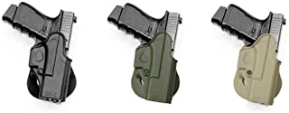 IMI RSR Hand Gun One Piece Holster Case Glock (glokl, glcok, golck, gloock, glouk) 17/19/22/23/26/27/31/32 Black