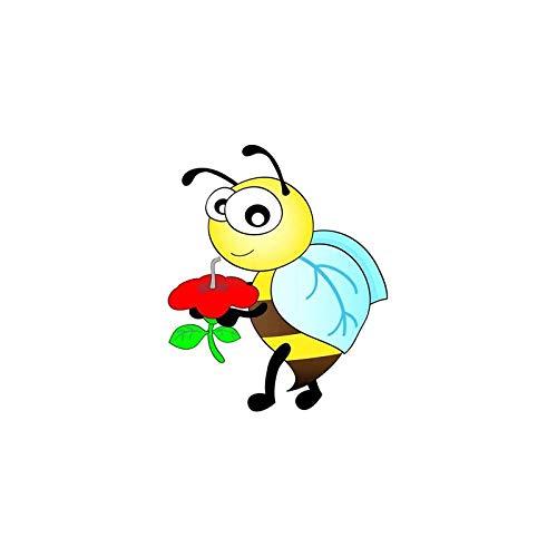 ZQZL 13,3 CM * 16,1 CM Las Abejas de la Miel recogen la Etiqueta engomada del PVC del Coche de la Historieta de la Miel
