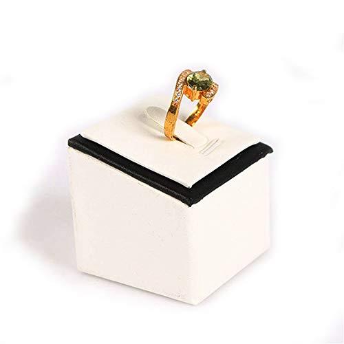 Titular del organizador de la joyería Soporte de pantalla de anillo Soporte de almacenamiento Soporte de pantalla Accesorios de soporte de anillo cuadrado creativo Soporte de anillo Para anillos pulse