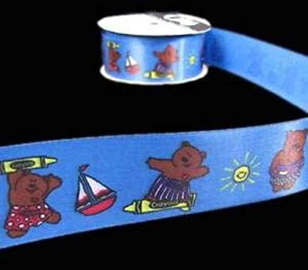 5 Yards Teddy Bear Brown Big Floating Polkadots Polka Dots Grosgrain Ribbon 1 1//