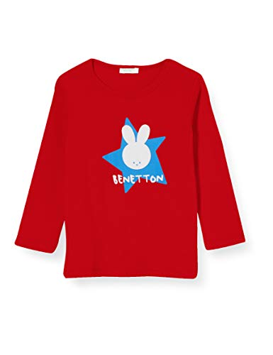 United Colors of Benetton T-Shirt M/l Camiseta de Manga Larga, Rojo (Rossol...
