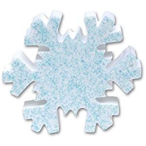 Tenna Tops - Blue Snowflake Sparkles Car Antenna Topper/Antenna Ball/Mirror Dangler