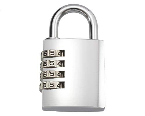 ハイロジック TQOOL ダイヤル錠 お好きな番号に変更できる 屋外でも使える 4段文字合わせ錠 40mm GS-813