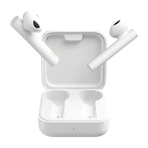 Xiaomi Mi - Auricolari wireless Bluetooth, True Wireless Earphones 2 Basic, colore bianco, senza fili, scatola di ricarica per cuffie portatile