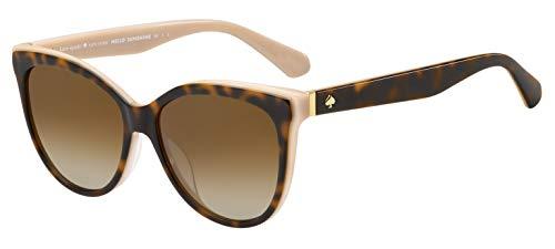 Kate Spade New York Women's Daesha Polarized Round Sunglasses, Havana Pink, 56 mm
