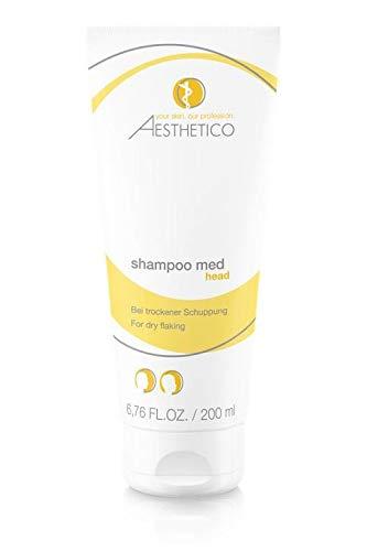 AESTHETICO shampoo med - Medizinisches Anti-Schuppenshampoo für trokene und juckende Kopfhaut, 200 ml