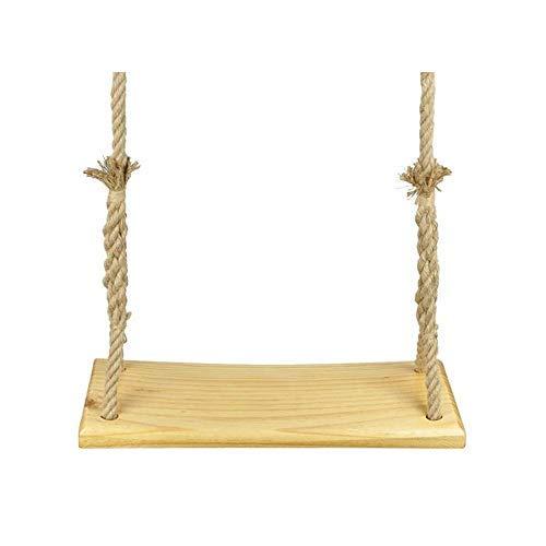 HAOT Balançoire,Chaise à Bascule en Bois Massif Swing intérieur décoration de la Maison Chaise Suspendue Multifonction Simple Adulte (Taille: 60cm)