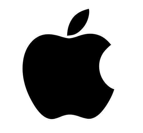Galuisi Adesivo Sticker Apple Mela Logo iPhone iOS per Auto, Moto, Casco. (Nero Lucido, Extra Small 2 * 2,5 cm)