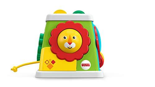 Mattel Fisher-Price-Cubo giros y sorpresas, Juguetes Aprendizaje bebés +6 Meses, Multicolor FYK64