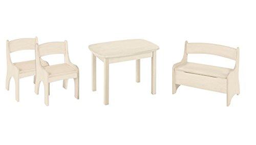 BioKinder 24792 Offerte d'epargne: Levin Meubles Enfants Table, Banc 2 chaises. Bois massiv