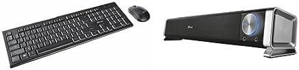 Trust Nola Set Tastiera e Mouse, Wireless + Asto Altoparlante per PC da 12 W e Alimentazione USB - Trova i prezzi più bassi