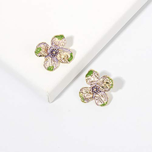 Earrings for Women for Anniversary Creative Candy Color Flower Earrings Joker Earrings Female Earrings Cuff & Wrap Earrings for St.Patrick's Day in (B)