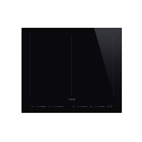 SMEG SIM662WLD Piano Cottura Nero Incasso A induzione, 2100 W, Glass