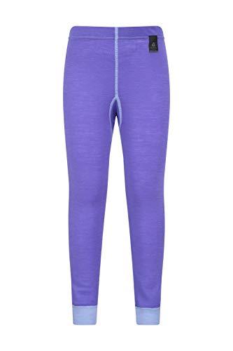 Mountain Warehouse Pantalon Thermique mérino Enfants - Respirant, Pantalon léger, antibactérien, Facile à Porter - pour garçons et Filles, Hiver Lila 9-10 Ans