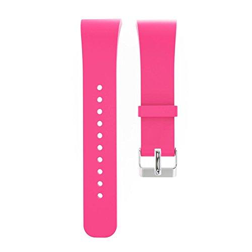 Pulseira de silicone de substituição para Samsung Gear Fit 2 SM-R360/Fit2 Pro R365 (rosa vermelha)