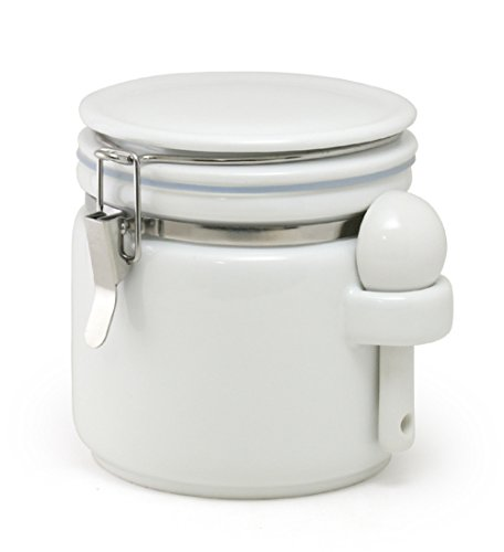 ZEROJAPAN Round Canister M White Ceramic Spoon Included RC-35M WH japan import