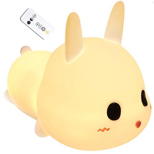Luces nocturnas, luz nocturna para niños Lámpara USB recargable de silicona para niños Touch Control, regulable con modos de cambio de color de luz cálida para niños