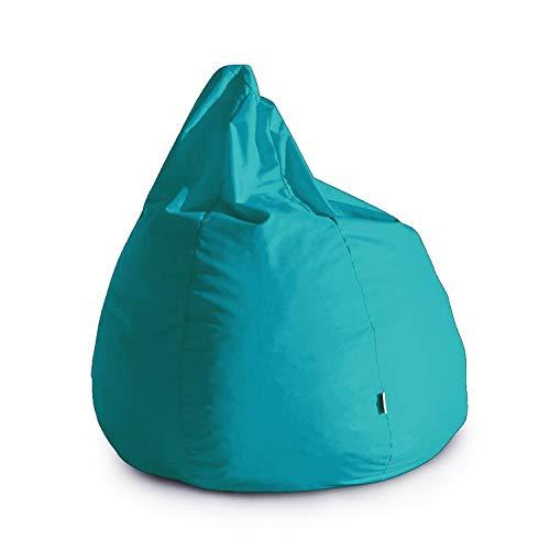 Avalon Pouf Poltrona Sacco Grande Bag L Jive 80x80x100cm Made in Italy in Tessuto antistrappo Imbottito Colore Petrol