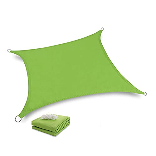 AMSXNOO Vela De Sombra, Impermeable 98% De ProteccióN UV a Prueba De Viento Vela Toldo, Rectangular Toldos Exterior por Exterior Jardín Invernadero Cámping (Color : Green, Size : 2.5X2M)