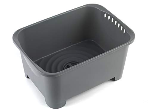 Beldray LA042873 Washing Up Bowl with Plug Water Drainer, 8 Litre, Grey