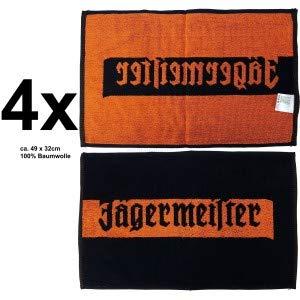 Jägermeister Handtuch Barhandtuch ca. 49x32cm - 4er Set