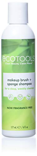 Ecotools Makeup Cleaner for Brushes, Brush and Sponge Cleansing Shampoo, 6 oz (Packaging May Vary)