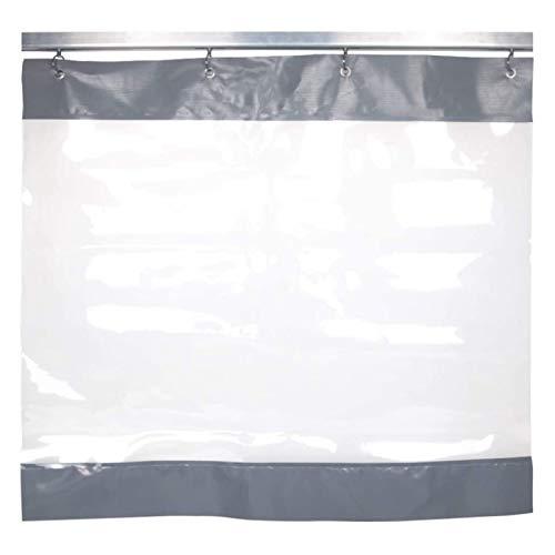 Lona,Cortina Impermeable Periféricos de Terraza Grado Comercial PVC Transparente de 0,5 Mm Lona Impermeable, Toldo de Balcón con Junta Antioxidante, Departamento de Lavado de Autos