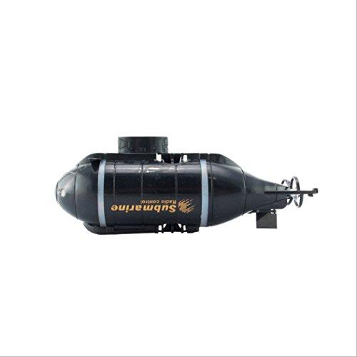 LHFJ RC Boot afstandsbediening elektrische race boot 6 kanalen mini onderboot voor zee / zwembad / vijver zwart, blauw