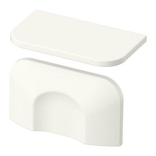 Ikea BERGHALLA uchwyty meblowe w kolorze białym; (56 mm); 2 sztuki