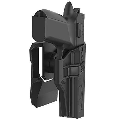 OWB Holster Compatible with CZ P07, Tactical 360 Degrees Adjustable Outside Waistband Paddle Holster Fits CZ P-07, Open Carry, Right-Handed