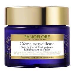 SANOFLORE - Crème merveilleuse enrichie - Soin de jour riche & puissant anti-rides bio - 50 ml - (pour les commandes multi-item extra postage cost will be reimbursed)