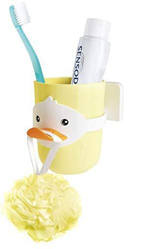 V-Ting kinderen studenten eend tandenborstelbeker tandenborstelhouder badkamer beker glas badkogel houder toilet tandenborstel tandpasta geel