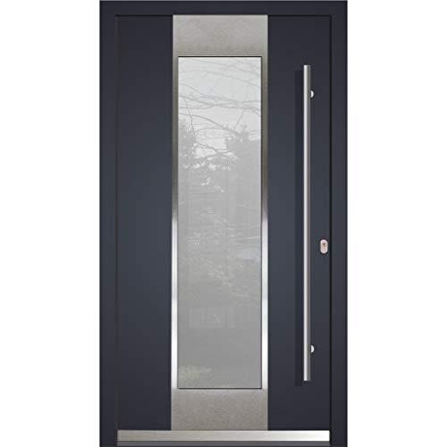Haustür Welthaus WH94 RC2 Premiumtür Aluminium mit Kunststoff LA123 Tür 1100x2100mm DIN Rechts Farbe aussen Anthrazit Innen weiß außengriff BGR1600 innendrucker M45 Zylinder 5 Schlüßel
