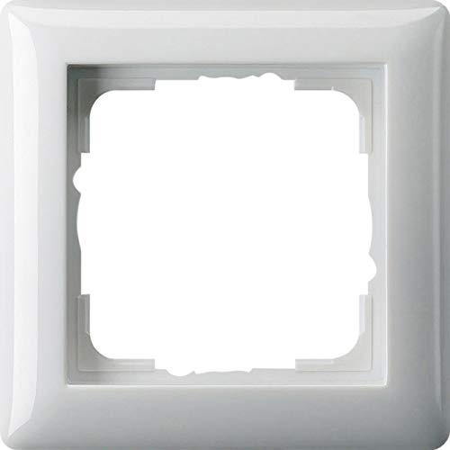GIRA System 55 Standard E2, Reinweiß glänzend, Steckdose Schalter Rahmen Wippe (021103 Rahmen 1-fach, 1 Stück)