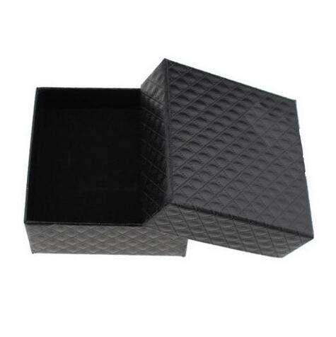 LYR Joyero Caja Collares Pendientes Pulsera Cajas de Anillo Caja Regalo Embalaje Pantalla Joyería Organizador-7.5x7.5 Black