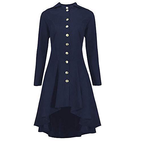 Gabardina para Mujer Abrigo A Abrigo Ligero Lines Modernas Casual Abrigo Rockabilly Fashion 2020 Ropa De Mujer (Color : Dunkel Blau, One Size : 44W)