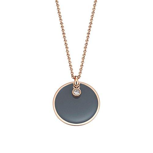 ESPRIT Damen Halskette Edelstahl Harz Glaskristall Fancy ESNL13169C800