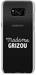 ZOKKO Case for Samsung S8 Plus Madame Grizou Transparent Soft White Ink