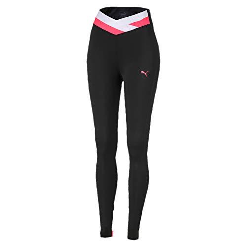 PUMA Hit Feel It 7/8 Tight Mallas Deporte, Mujer, Black-Pink Alert, S