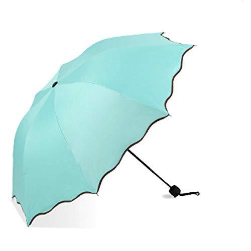 TUOTANG60 - Gancho de hueso, barra recta, color sólido, paraguas de negocios Azul azul celeste