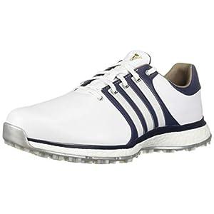 adidas Men's TOUR360 XT Spikeless Golf Shoe, FTWR White/Collegiate Navy/Silver Metallic, 11 M US