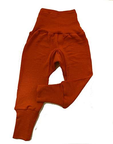 Cosilana Baby Hose lang mit Bund, 70% Wolle 30% Seide (Uni Orange, 50/56)